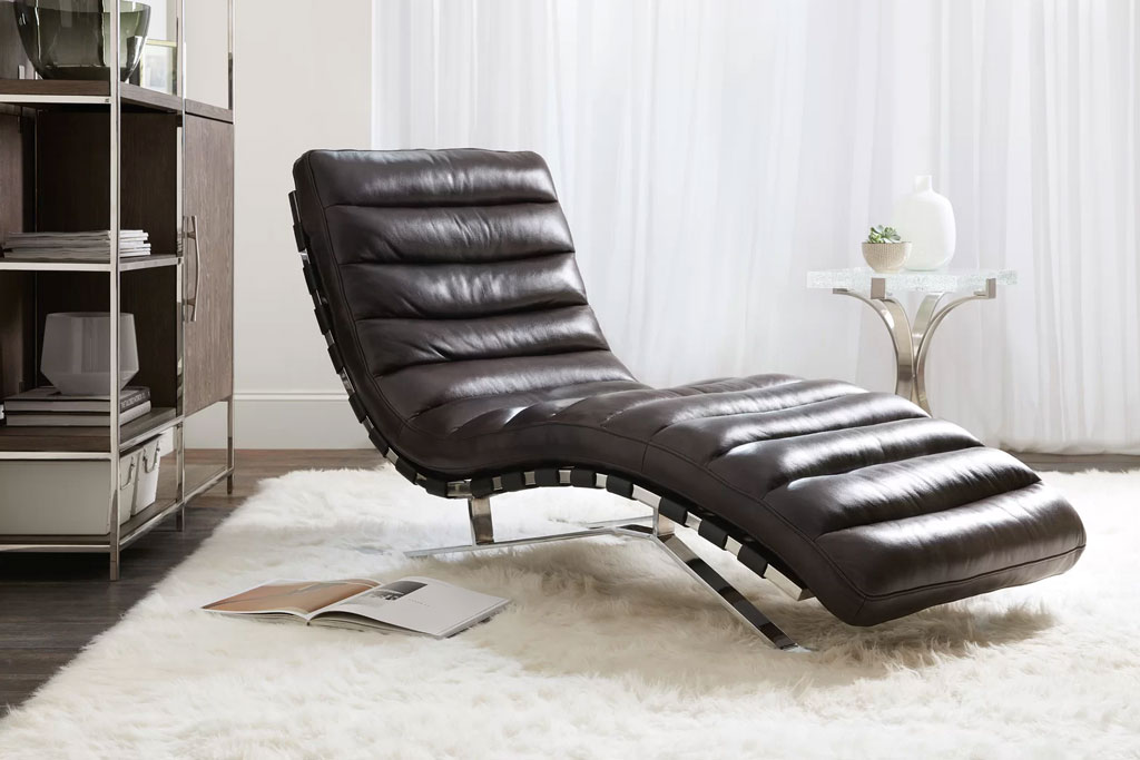 caddock leather chaise lounger by hooker furniture sodafine