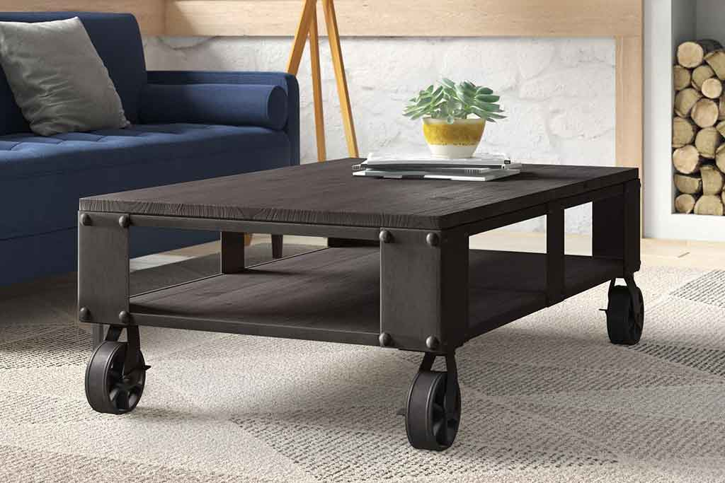 coffee table with wheels 1