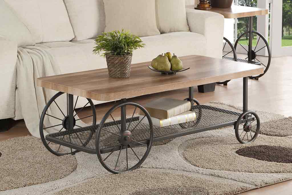 coffee table with wheels 3